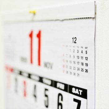 カレンダーの加工