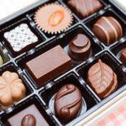 チョコレートの箱詰加工